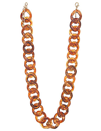 Tortoiseshell link necklace by Lane Bryant