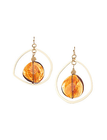 Asymmetric hoop drop earrings by Lane Bryant