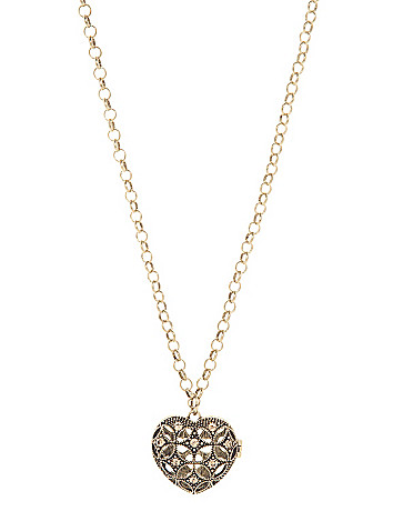Heart locket pendant necklace by Lane Bryant