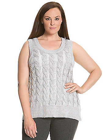 6th & Lane cable knit tank