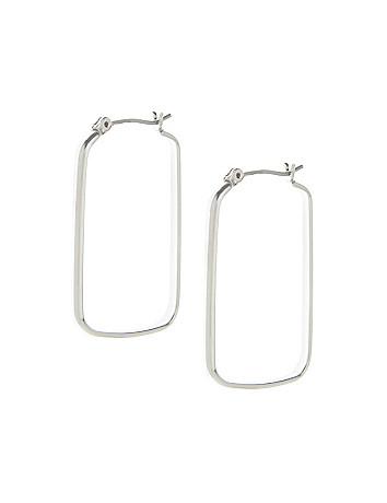 Rectangular hoop earrings by Lane Bryant
