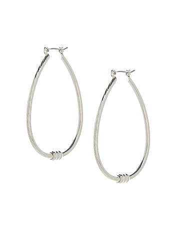 Textured teardrop earrings by Lane Bryant
