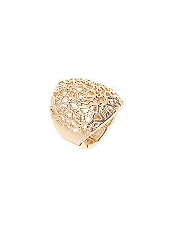 Filigree cocktail ring by Lane Bryant