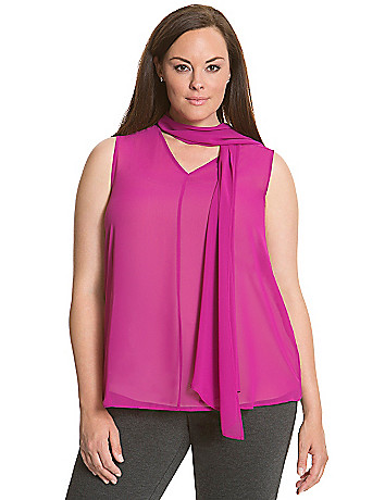 6th & Lane scarf-tie blouse