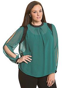 6th & Lane studded chiffon blouse