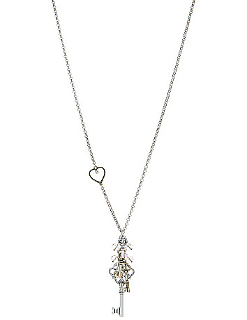 Key cluster pendant necklace by Lane Bryant