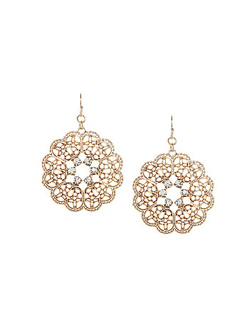 Filigree flower earrings by Lane Bryant