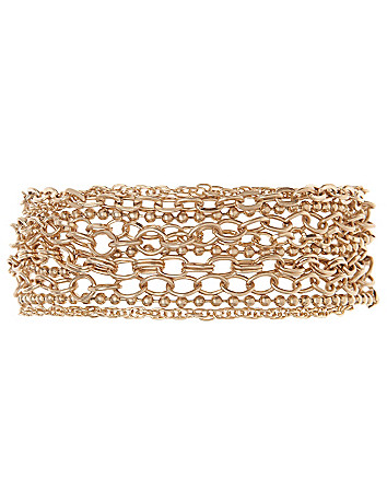 Multi chain bracelet by Lane Bryant