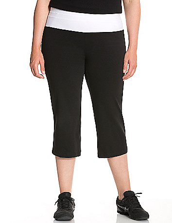 Yoga capri with mesh waist