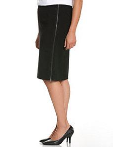 Side zip pencil skirt