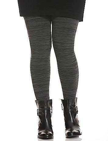 Space dye footless leggings