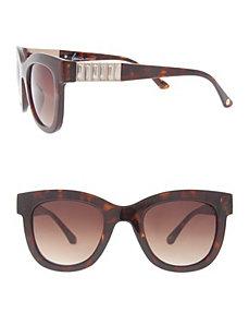 Tortoiseshell rhinestone sunglasses