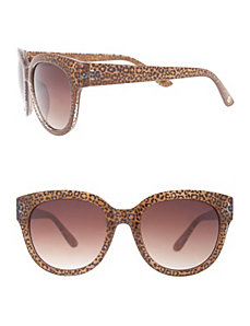 Animal print wayfarer sunglasses