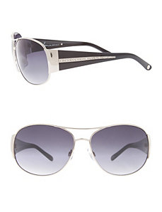 Rhinestone arm aviator sunglasses