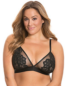 Unlined lace no-wire bra