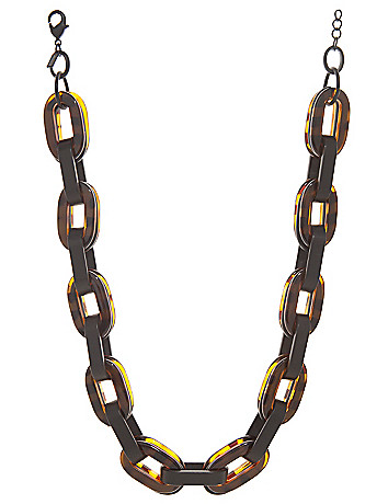 Black & tortoiseshell link necklace by Lane Bryant