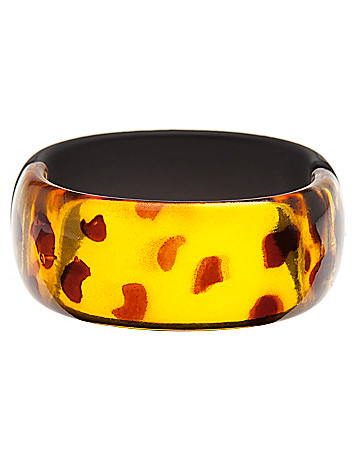 Wood & tortoiseshell bracelet by Lane Bryant