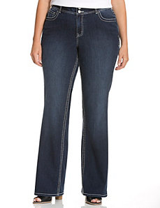 Fashion bootcut jean with Tighter Tummy Technology