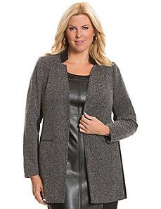 Tweed & ponte long jacket