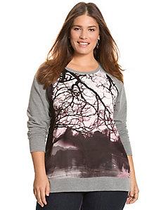 Tree print sweatshirt