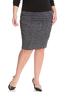 Slimming ruched skirt