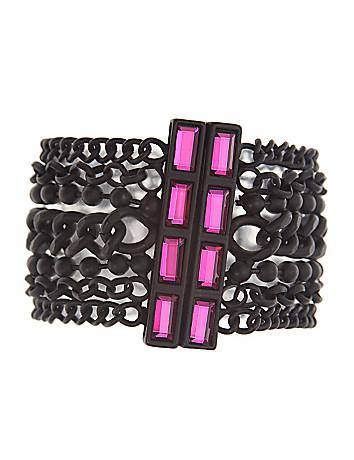 6th & Lane multi chain bracelet with stones