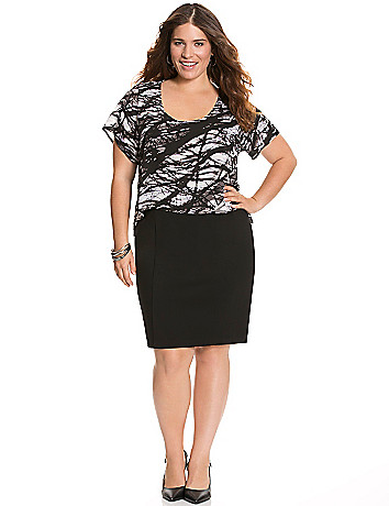 Printed tee sheath dress by Lane Bryant
