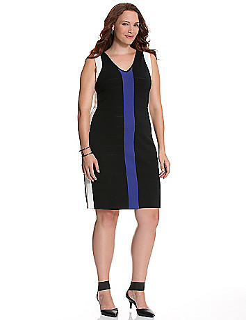Colorblock bandage dress
