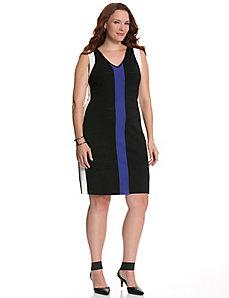 Colorblock bandage dress