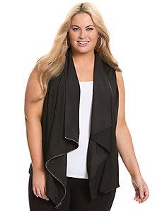 Asymmetric zipper top by DKNYC