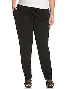 Straight leg elastic leg pant by DKNYC
