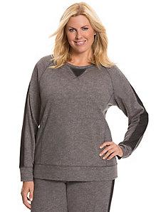 Mesh overlay sweatshirt