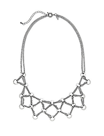 Chain necklace with nuts by Lane Bryant