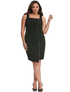 Zipped sheath dress