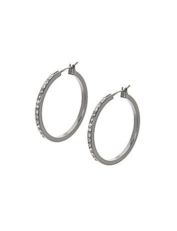 Cubic zirconium hoop earrings