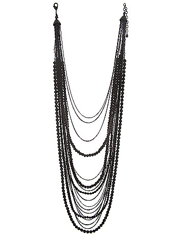 Matte bead & chain necklace by Lane Bryant