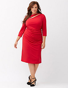 Control Tech slimming cut-out dress