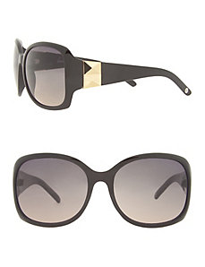 Square frame goldtone accent sunglasses