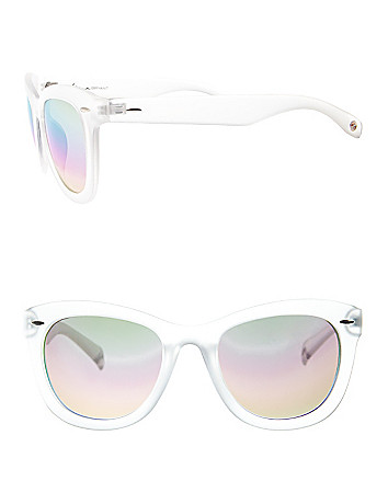 Clear frame wayfarer sunglasses
