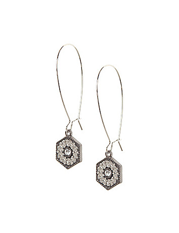 Hardware drop earrings by Lane Bryant