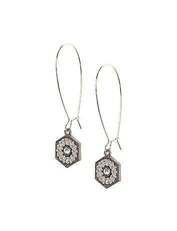 Hardware drop earrings by Lane Bryant