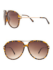Animal print aviator sunglasses