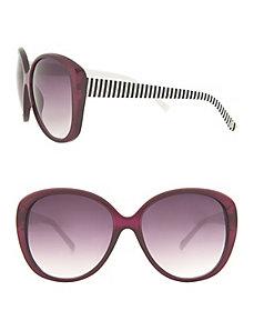 Striped arm sunglasses