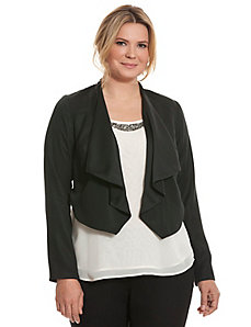 Reversible draped jacket