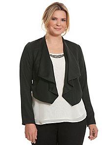 Reversible draped jacket