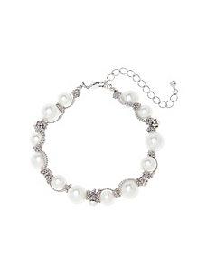 Chain wrapped faux pearl bracelet by Lane Bryant