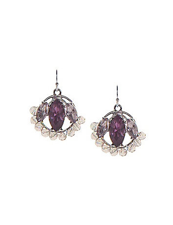 Beaded hoop drop earrings by Lane Bryant