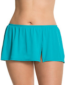 Slitted swim skirt