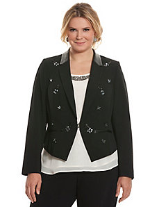 Tailored Stretch embellished pointed jacket