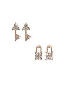 Lock & key earrings duo by Lane Bryant